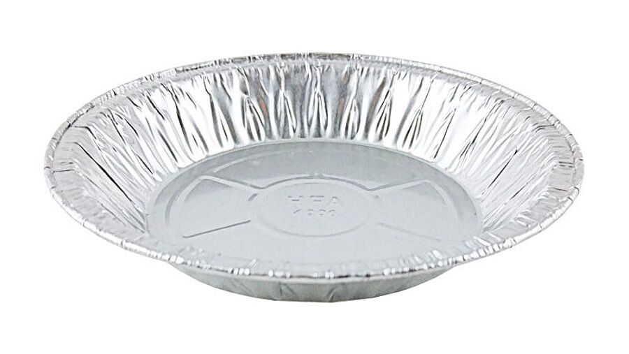 "HFA 6"" Foil Pie Pan w/Clear Low Dome Clamshell Container Combo 50/PK"