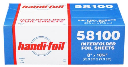 "Handi-Foil 8"" x 10.75"" Foil Pop-Up Sheets"