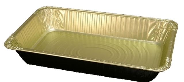 Handi-Foil Full-Size Deep Black & Gold Steam Table Foil Pan 50/CS