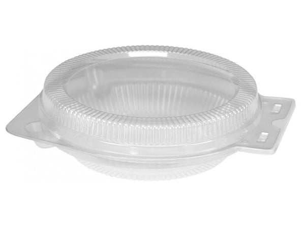 "Clear Clamshell for 9"" Foil Pie Pan Plates"