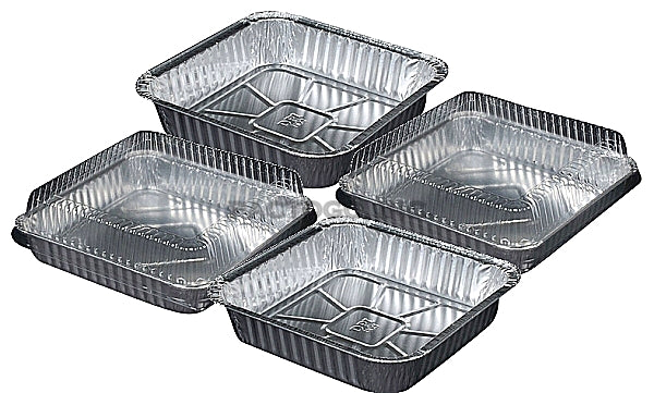 "9"" Square Cake Foil Pan w/Clear Dome Lid"