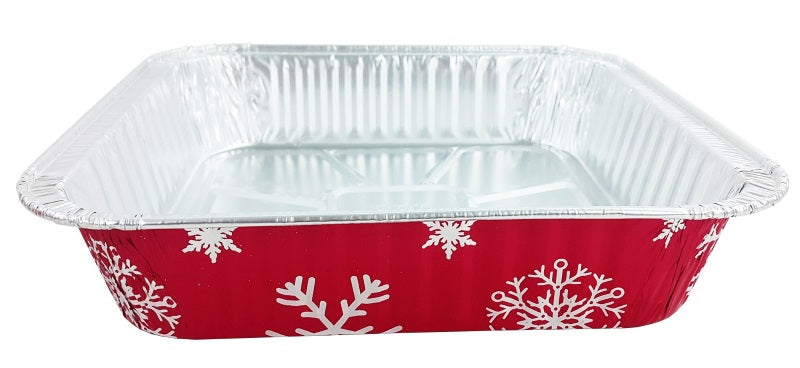 "9"" Red Holiday Square Cake Pan"