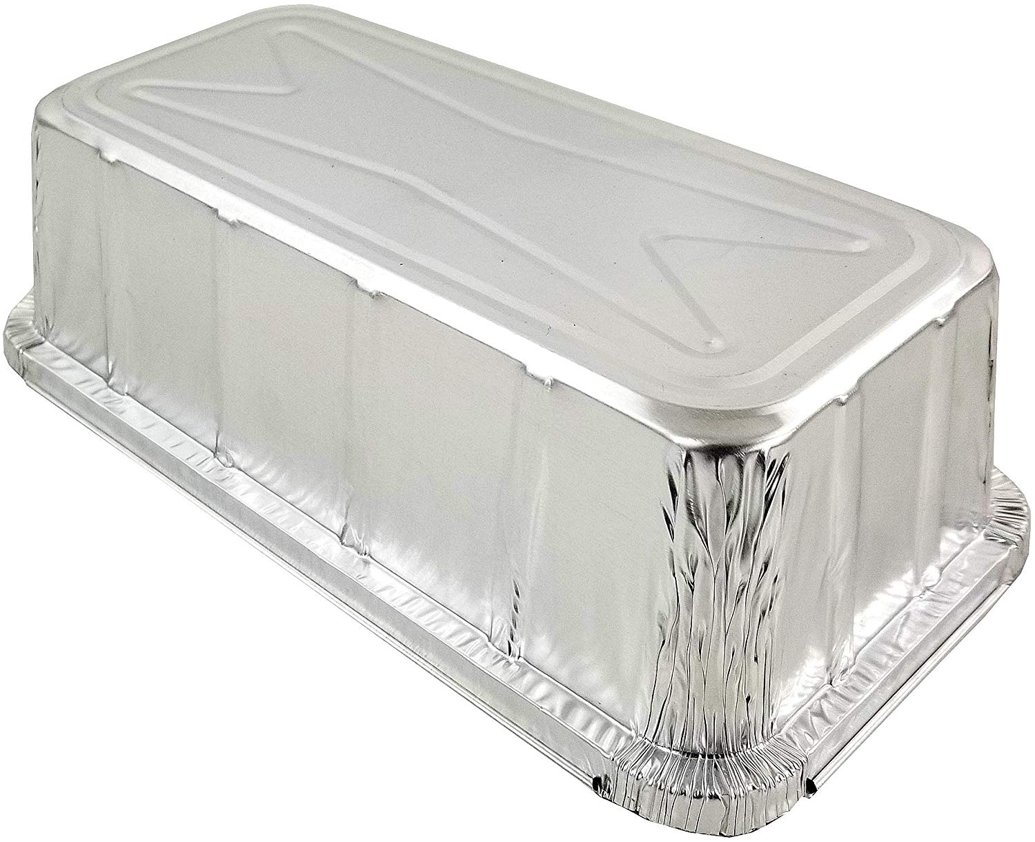 D&W Fine Pack A86 2 lb. Aluminum Foil Closable Loaf Pan w/DomeLid 50/PK