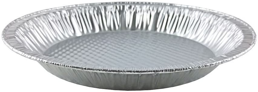 "Handi-Foil 10"" (Actual Top-Out 9-5/8 Inches - Top-In 8-3/4 Inches) Aluminum Foil Pie Pan 50/PK"
