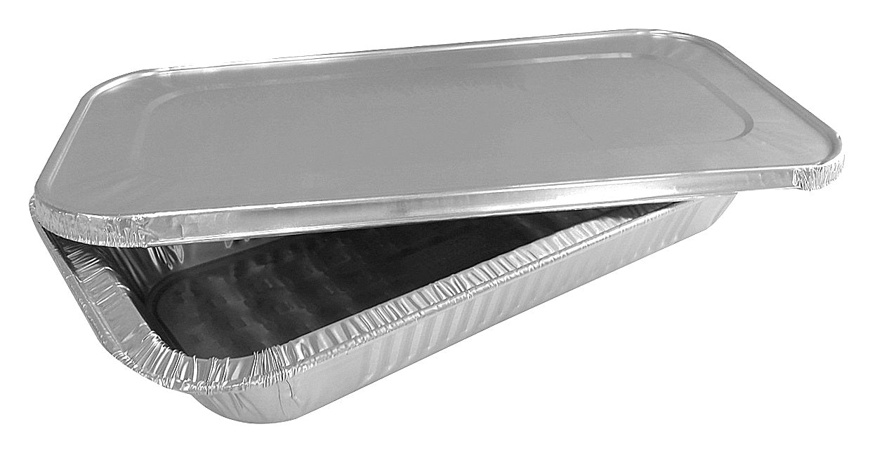 Handi-Foil Third-Size Shallow Steam Table Aluminum Pan w/Lid Combo Pack 50/PK