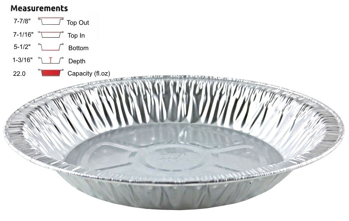 "Handi-Foil 8"" Extra-Deep Foil Pie Pan 1-3/16"" Deep 500/CS"