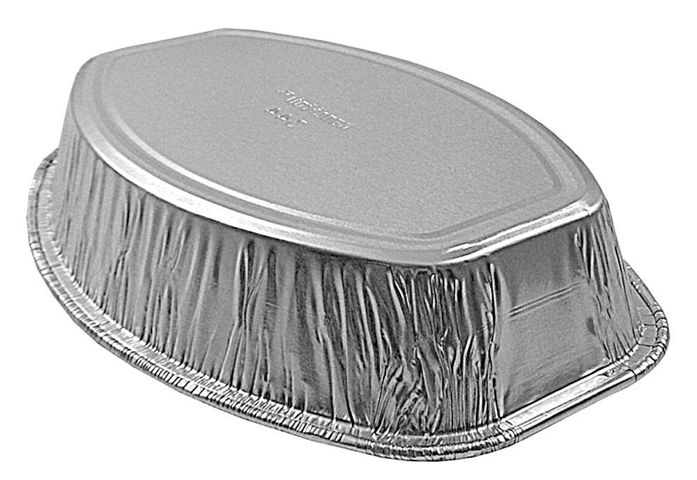 "Handi-Foil 8"" x 5"" Mini-Oval Casserole Pan 200/CS"