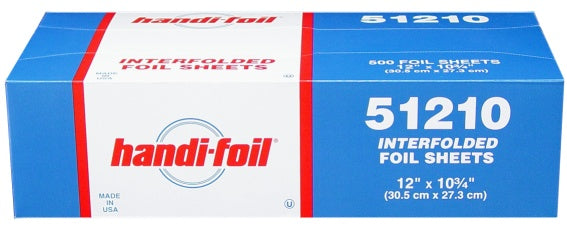 "Handi-Fol 12"" x 10.75"" Interfolded Foil Sheets"