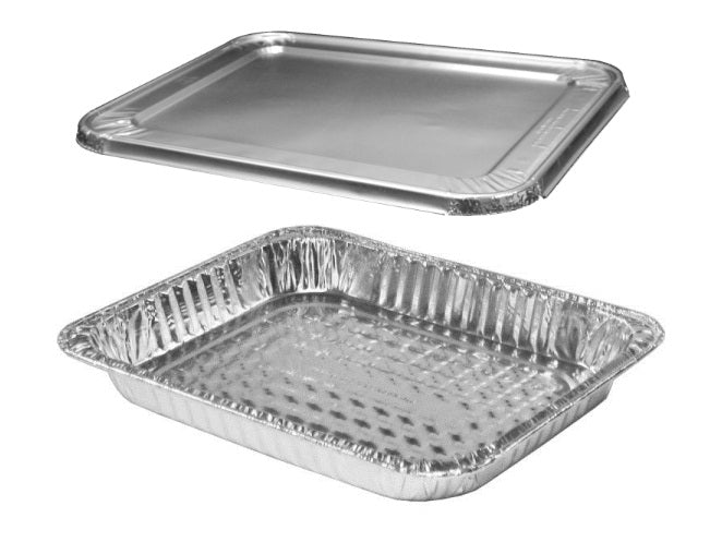 Half-Size Shallow Steam Table Foil Pan w/Lid