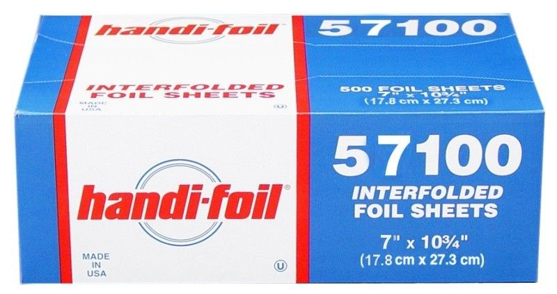 "Handi-Foil 7"" x 10.75"" Foil Pop-Up Sheets"