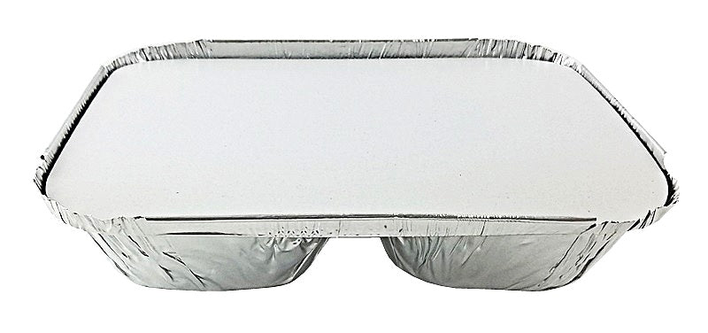 Handi-Foil 3-Compartment Oblong Foil Pan w/Board Lid Combo Pack 250/CS