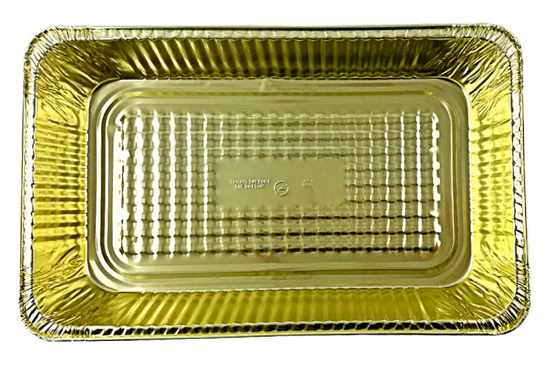 Handi-Foil Full-Size-Deep Black & Gold Steam Table Foil Pan