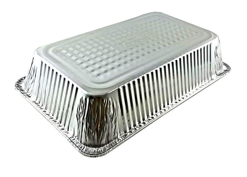 """Extra Deep Disposable Aluminum Pans approx 12/""""x10/""""x4/"""" 20-Pack  Half-Size"""