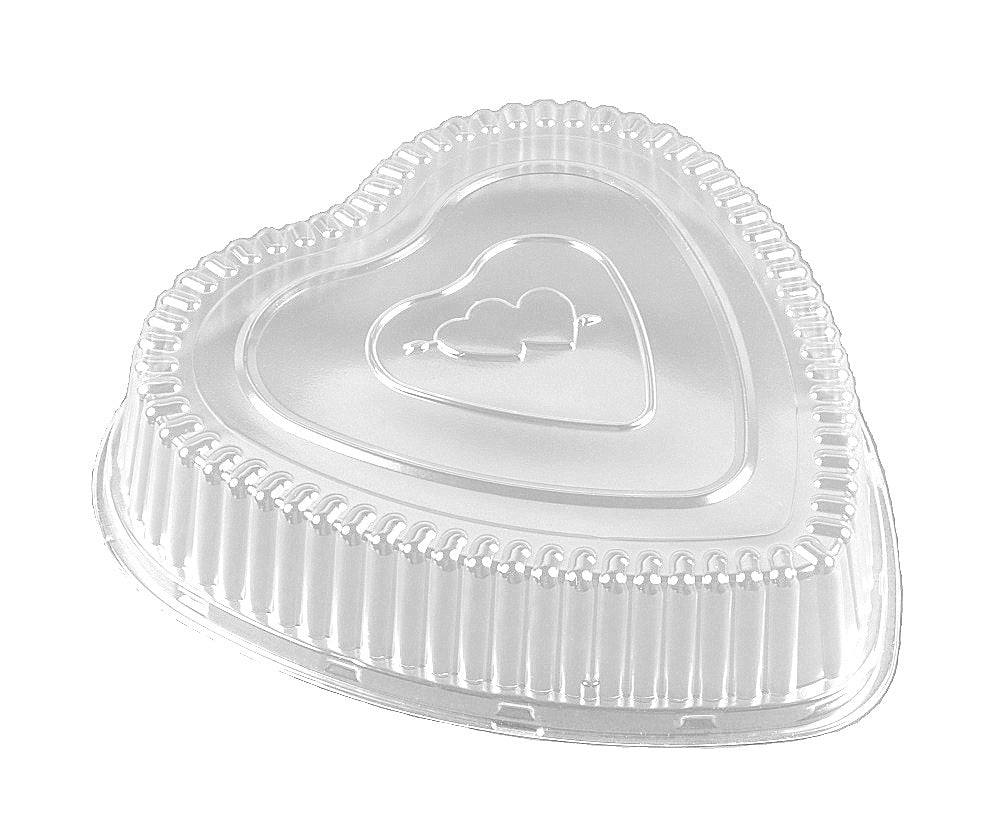 HFA clear dome lid for red hear foil pan