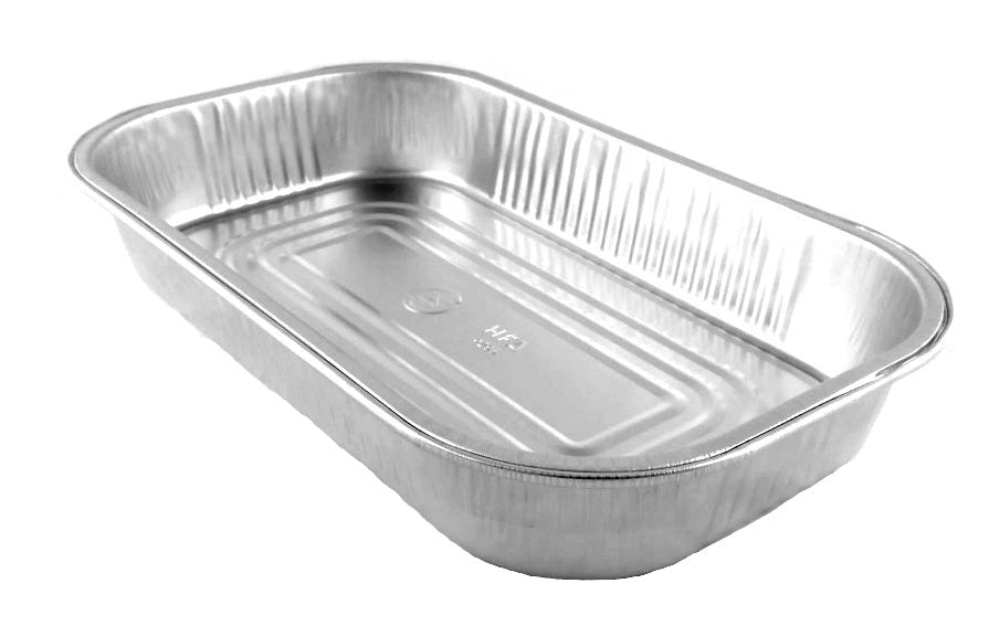 HFA Gourmet-to-Go Large 5 lb. Silver Entree Pan