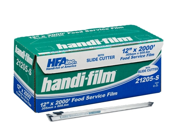 "HFA Hand-Film 12"" x 2000' Food Service Cling Film w/Safety Slide Cutter"