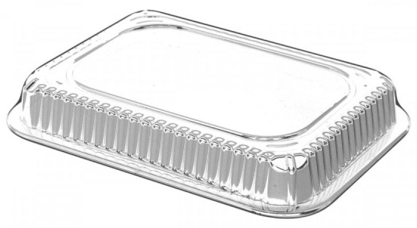 Dome Lid For 1 1/2 lb. Oblong Deep Foil Pan