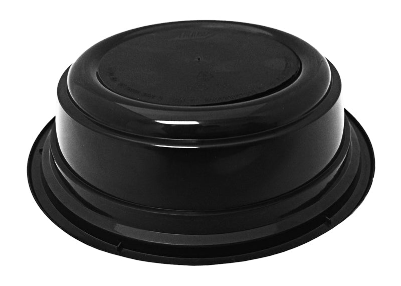 "16 oz. Round Black 6"" Container w/Lid Combo 150/CS"