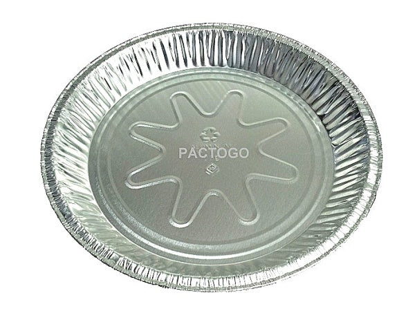 "Pactiv 9"" Medium Foil Pie Pan 15/16"" Deep"