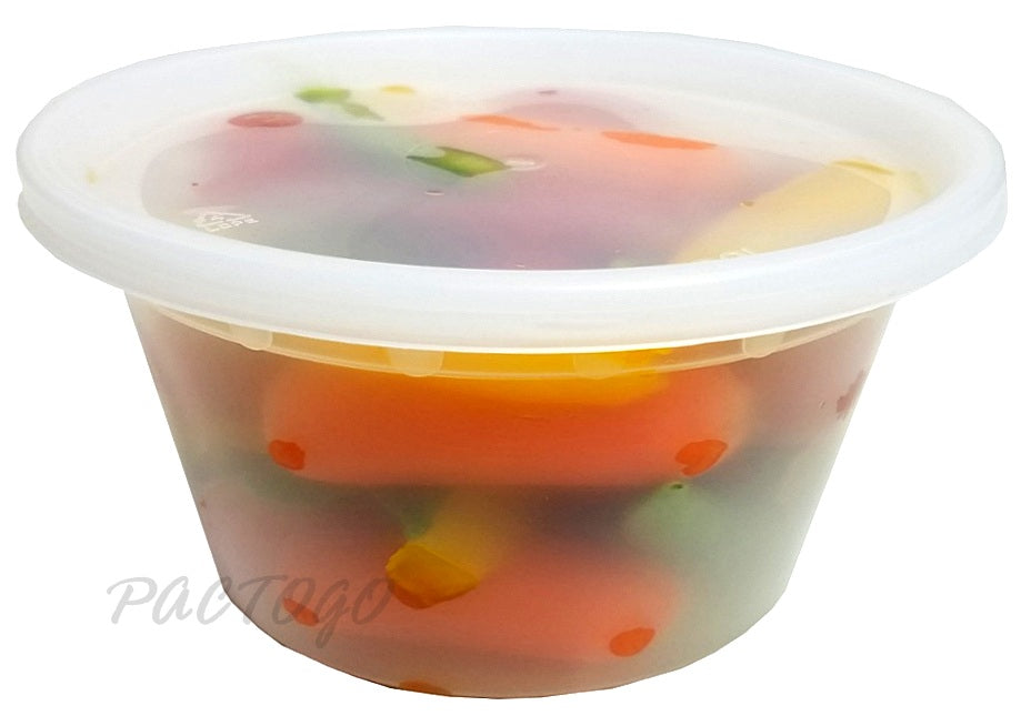 12 oz. Round Microwaveable Deli Container Combo