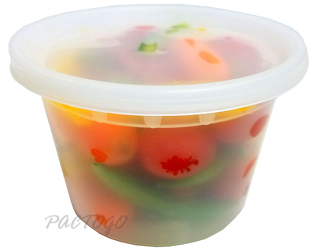 16 oz. Round Microwaveable Soup Container w/Lid Combo