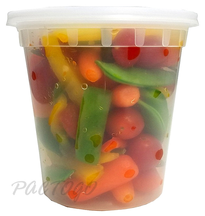 24 oz. Round Microwaveable Deli Container Combo