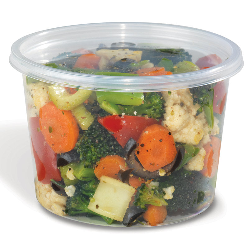 Placon 16 oz. Round Clear Deli Container