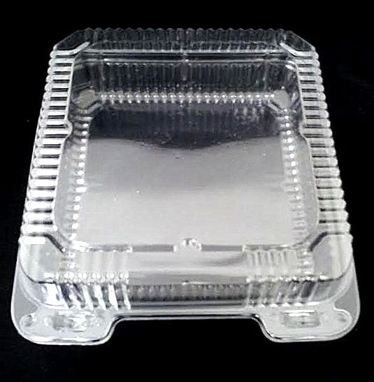 "9"" Medium Clear Hinged Container Single Compartment"