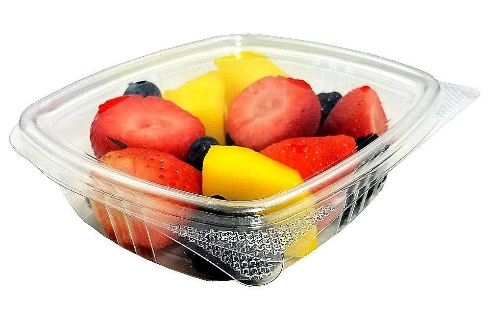 8 oz. Clear Hinged Deli Fruit Container 200/CS