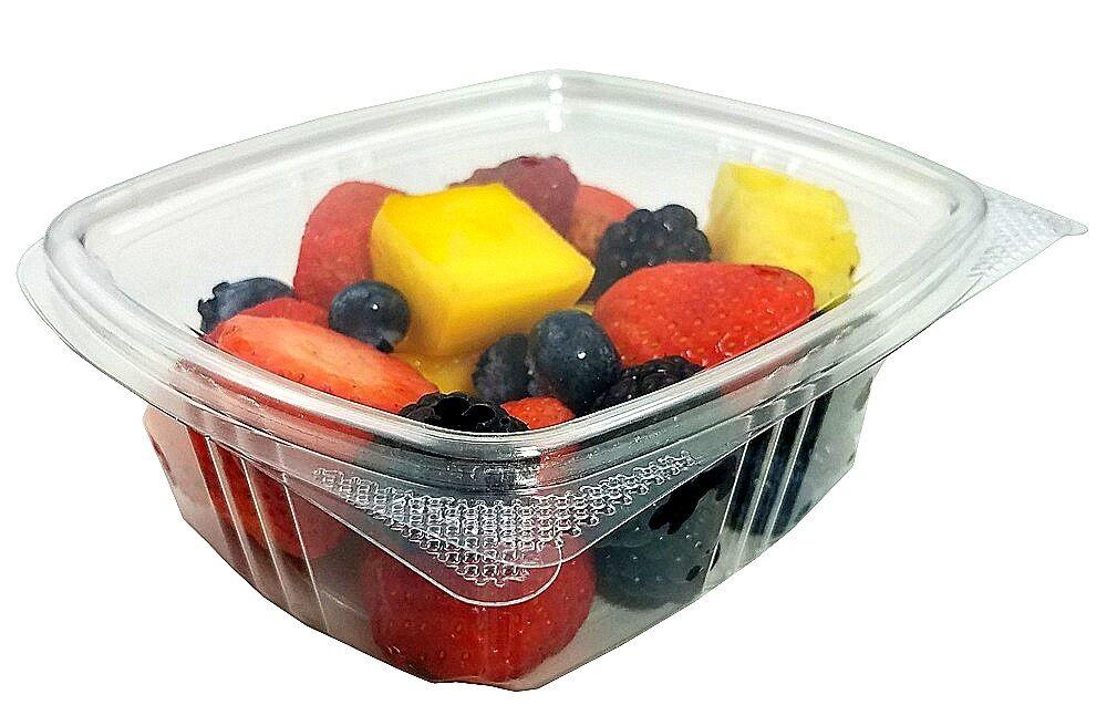 12 oz. Clear Hinged Deli Fruit Container 200/CS