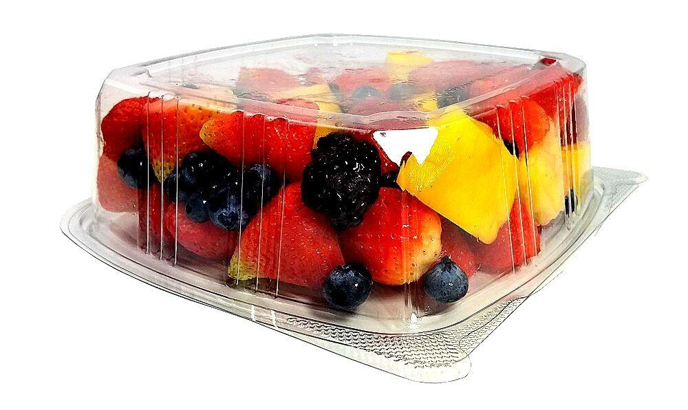 48 oz. Clear Hinged Deli Fruit Container 200/CS
