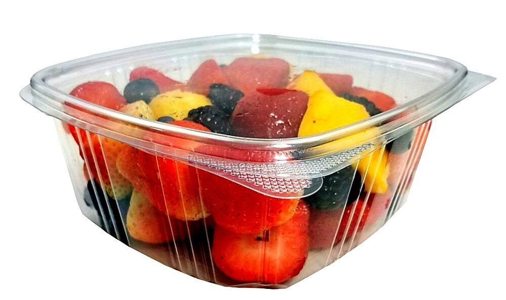 32 oz. Clear Hinged Deli Fruit Container 50/PK