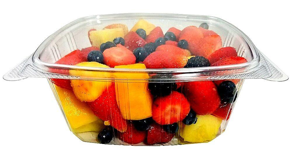 64 oz. Clear Hinged Deli Fruit Container 200/CS