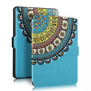 Flames Thinnest Protective Genuine Leather Cover for Amazon Kindle