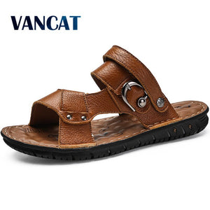 Genuine Leather Men Beach Sandals