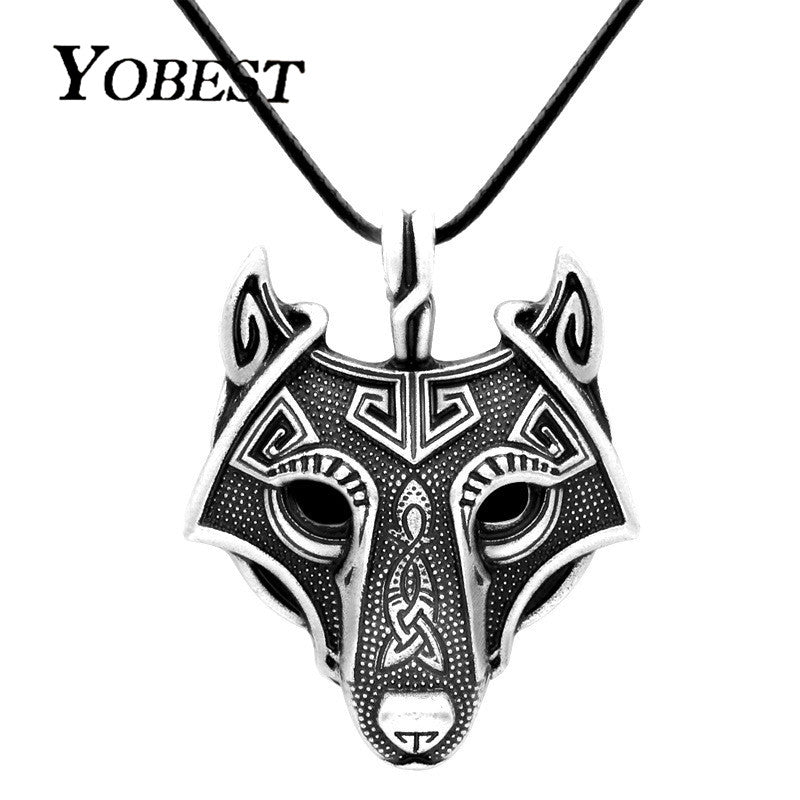 Vikings Wolf Head Necklace