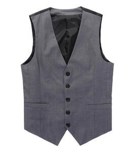 New Wedding Dress High-quality Goods Cotton Men's Fashion Design Suit Vest / Grey Black High-end Men's Business Casual Suit Vest