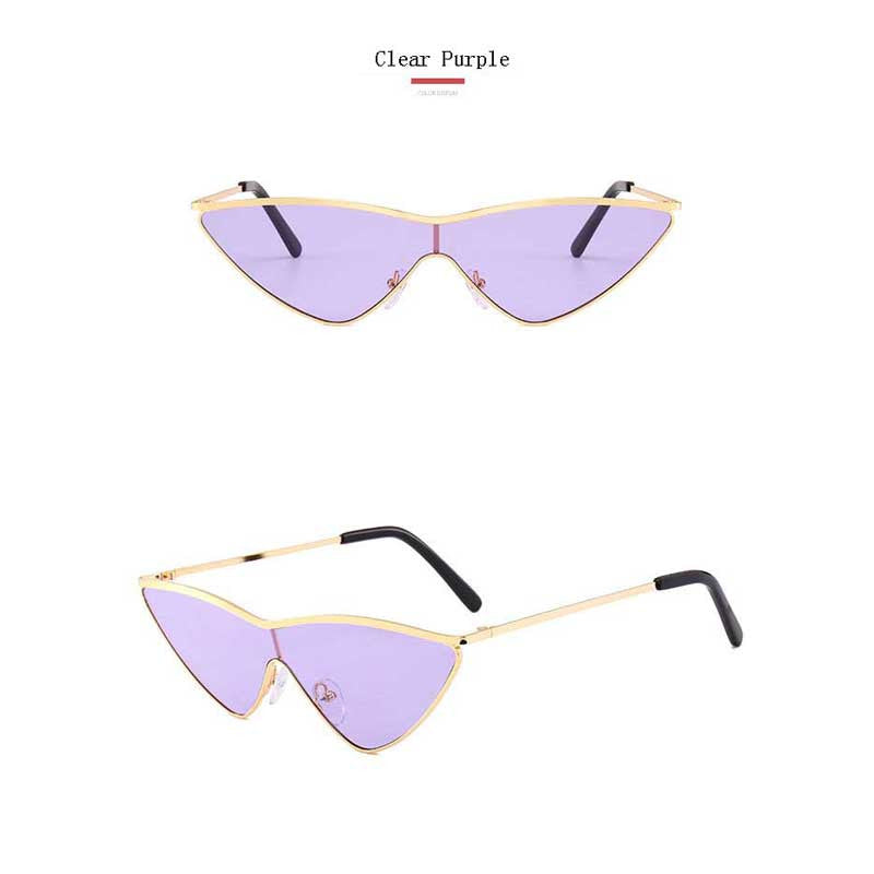 Triangle Sunglasses Fashion 2018 Glasses Women One Piece Vintage Sun glasses Ladies Brand Designer Retro Alloy Triangle Eyewear