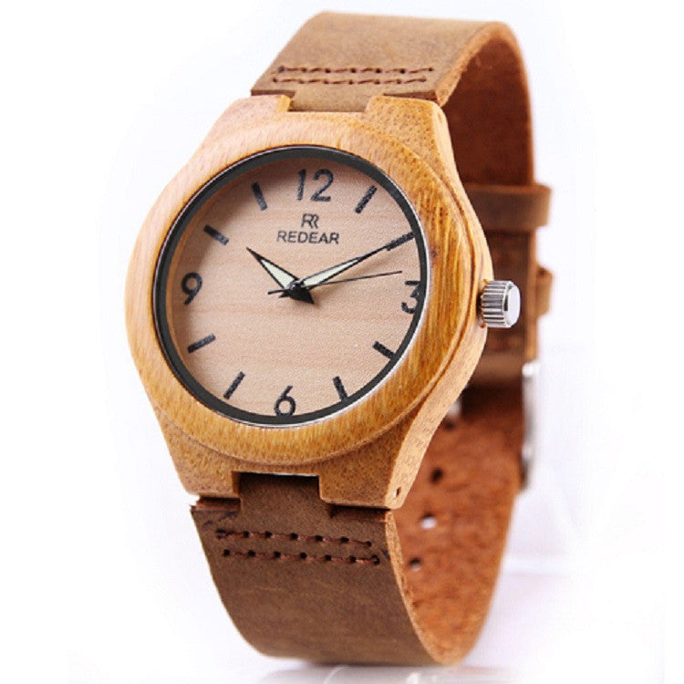 Luminous Hands Bamboo Wooden Watches