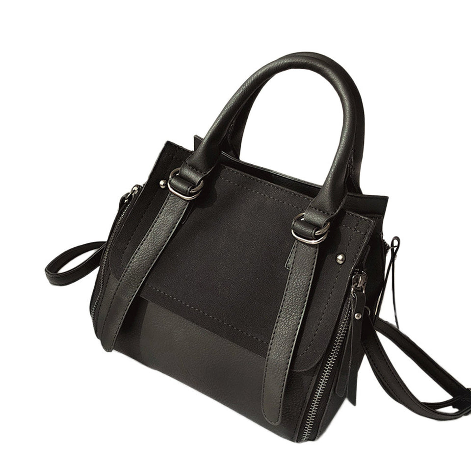 Retro Women's Frosted Leather Shoulder Bags