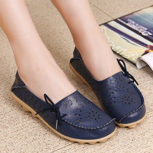 Women Moccasins Leather Shoes