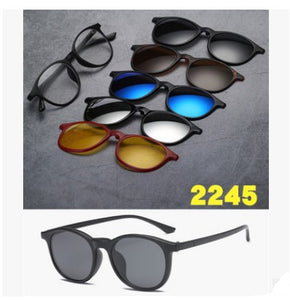 Magnetic Sunglasses with 5 Free Lenses