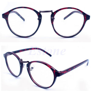 Women Men Eyeglasses Frame Plain Mirror Round Eyewear Fashion Cat eye Glasses