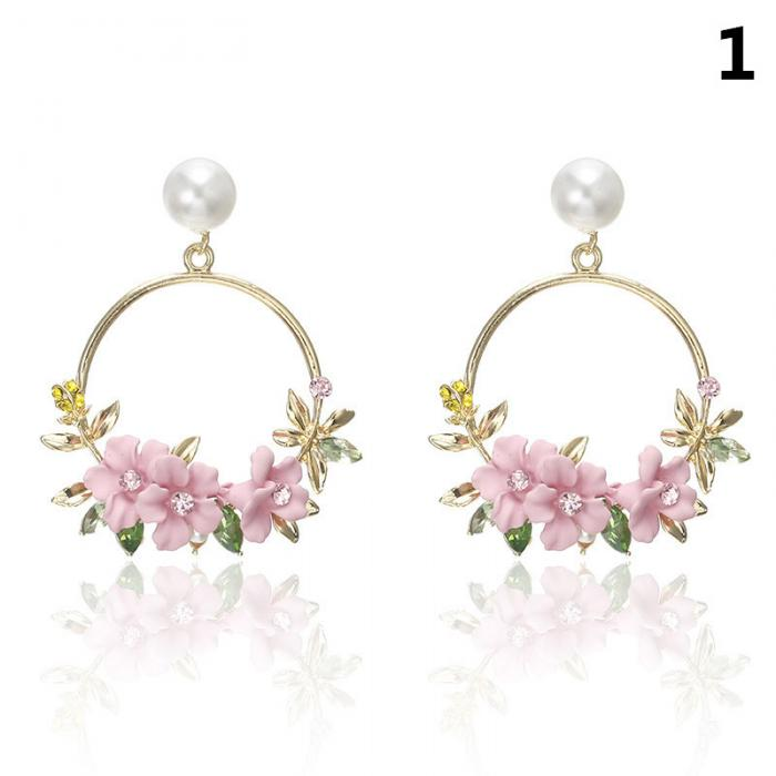 Newly Women Round Circle Dangle Earrings