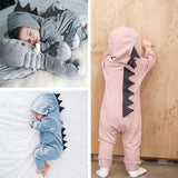 Infant  Clothes Dinosaur Hooded Romper Jumpsuit