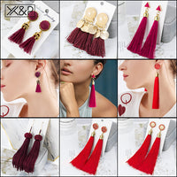 Bohemian Statement Big Tassel Earrings