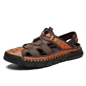 Men Leather Splice Shoes
