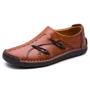 NIS Genuine Leather Flat Shoes For Men