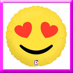 "18"" Emoji Balloon - Heart Eyes"