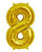 Number Balloons - Gold 34 ""